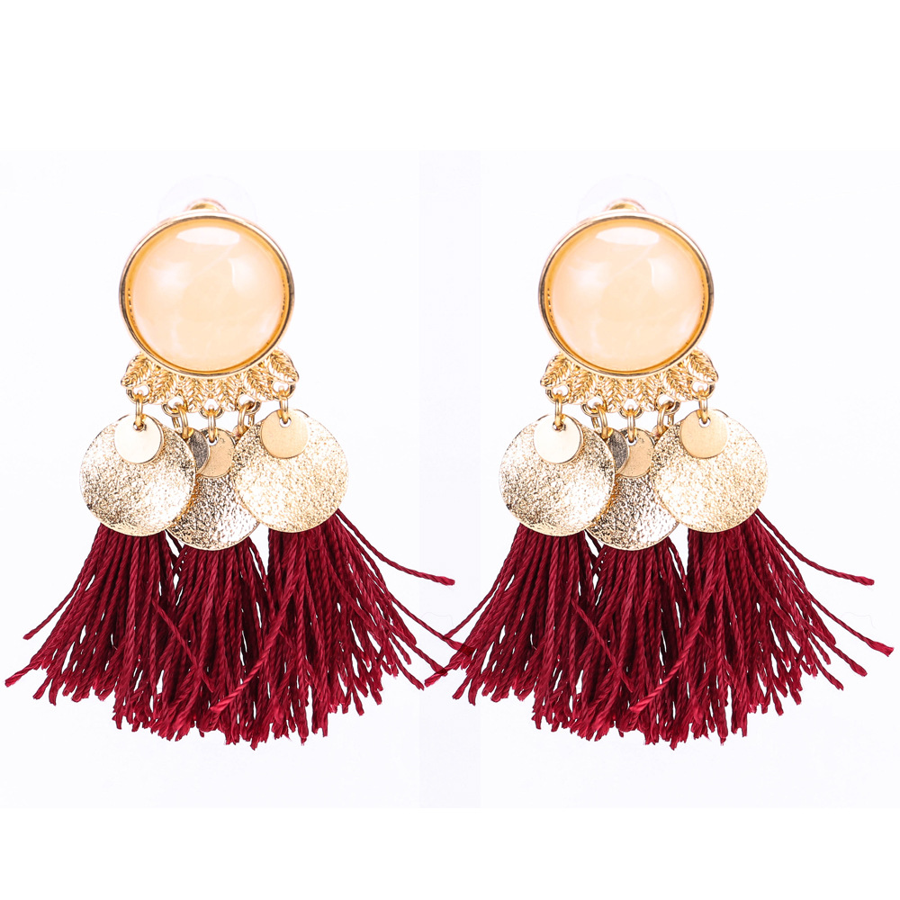 Occident and the United States alloy plating earring (white)NHJE0509-white