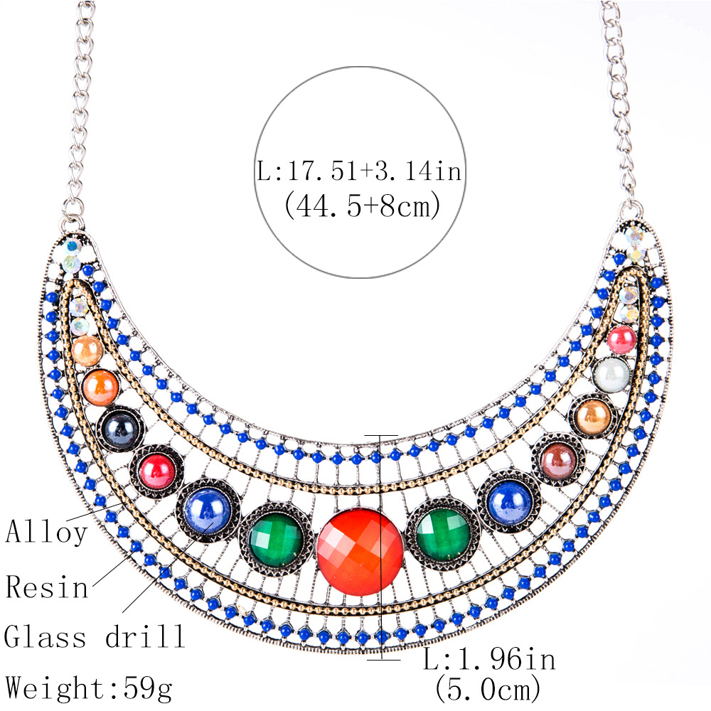 Exotic alloy plating necklace (color)NHJE0479-color