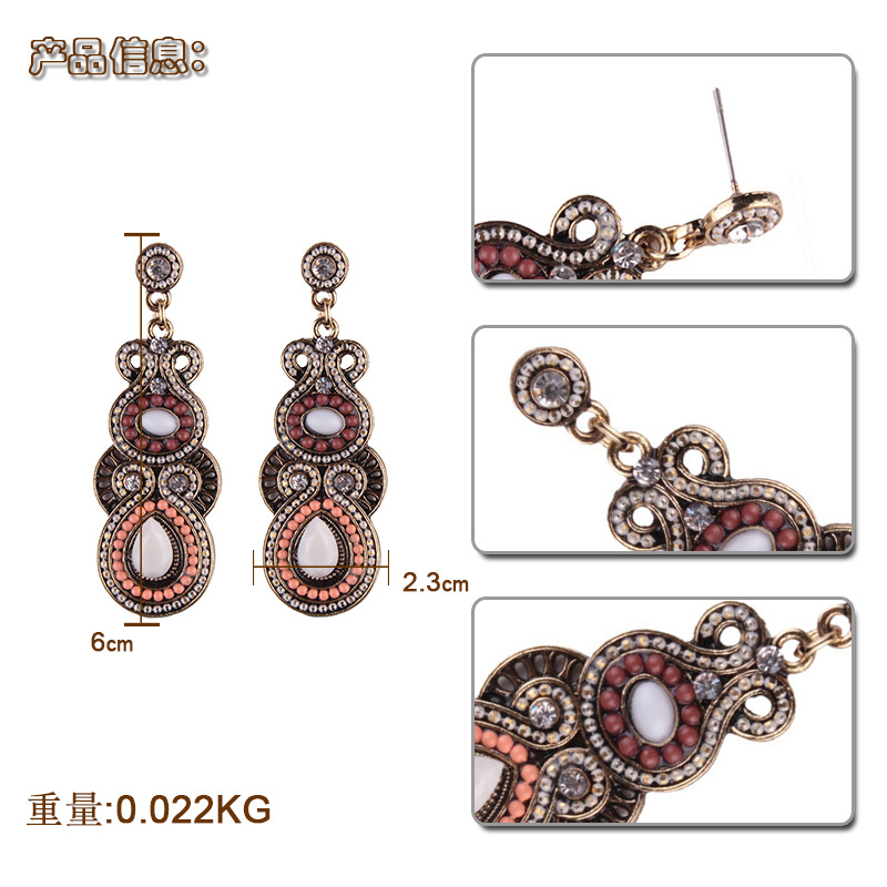 Alternative alloy hand made earring (color)NHJQ9258-color