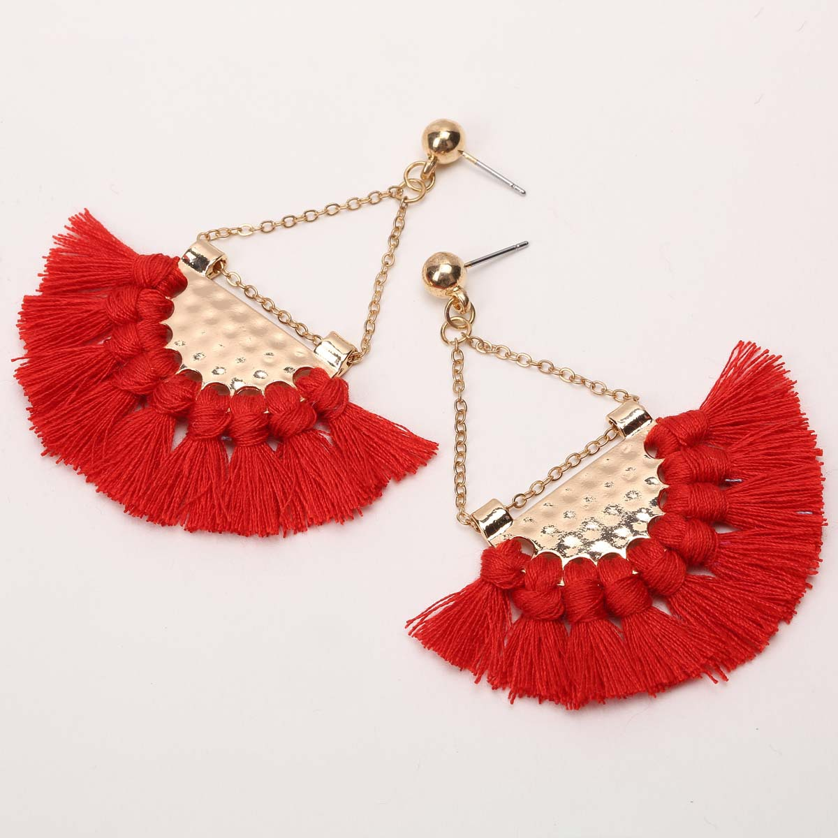 alloy plating earring (B0662 rose red)NHXR1456-B0662 rose red