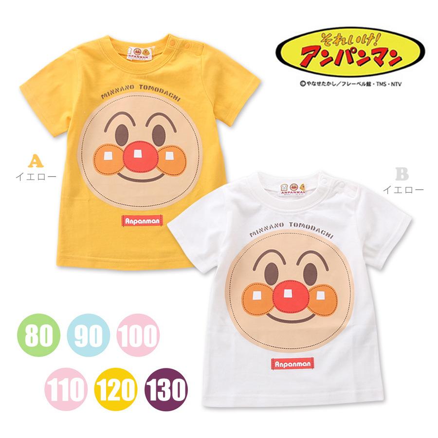 出口日本ANPANMAN面包超人面包勇士微笑大头短袖T恤圆领上衣童装