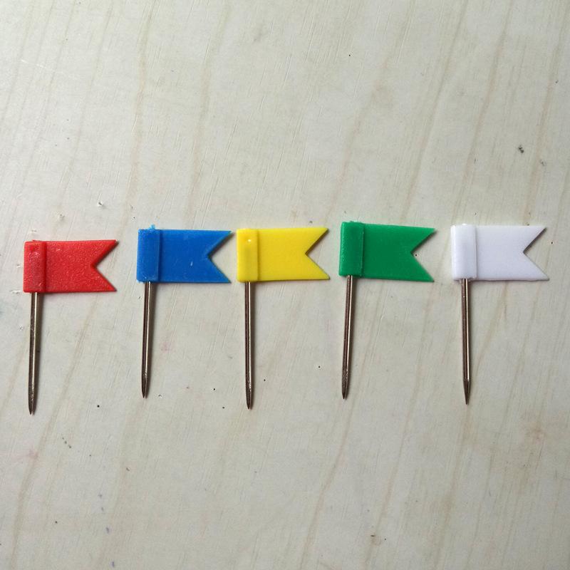 彩色红旗钉办公文教工字地图标志钉留言板软木板钉工字图钉