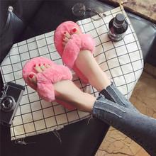棉拖鞋女秋冬季新款居家室内保暖毛毛日式冬天月子毛绒防滑人字拖