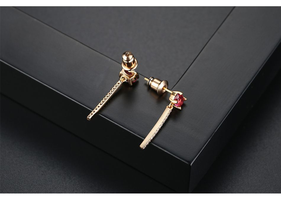 Alloy Simple Geometric earring  (Champagne Alloy-T05C15) NHTM0487-Champagne-Alloy-T05C15
