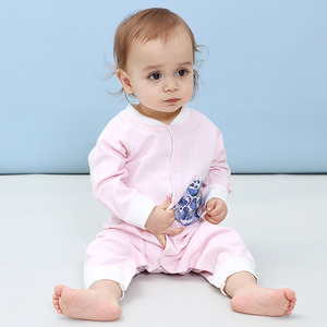 Baby combed cotton, spring and summer baby underwear, ha clothes, newborn baby conjoined clothes