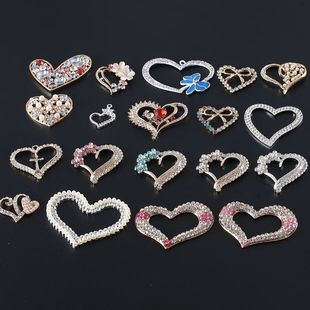 Creative love pearl love plum blossom peach heart diy mobile phone case jewelry accessories beauty alloy diamond material package
