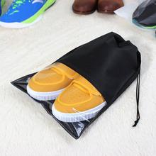 空白抽繩無紡布拖鞋袋子定制透明涼鞋束口袋可印刷LOGO收納包裝袋