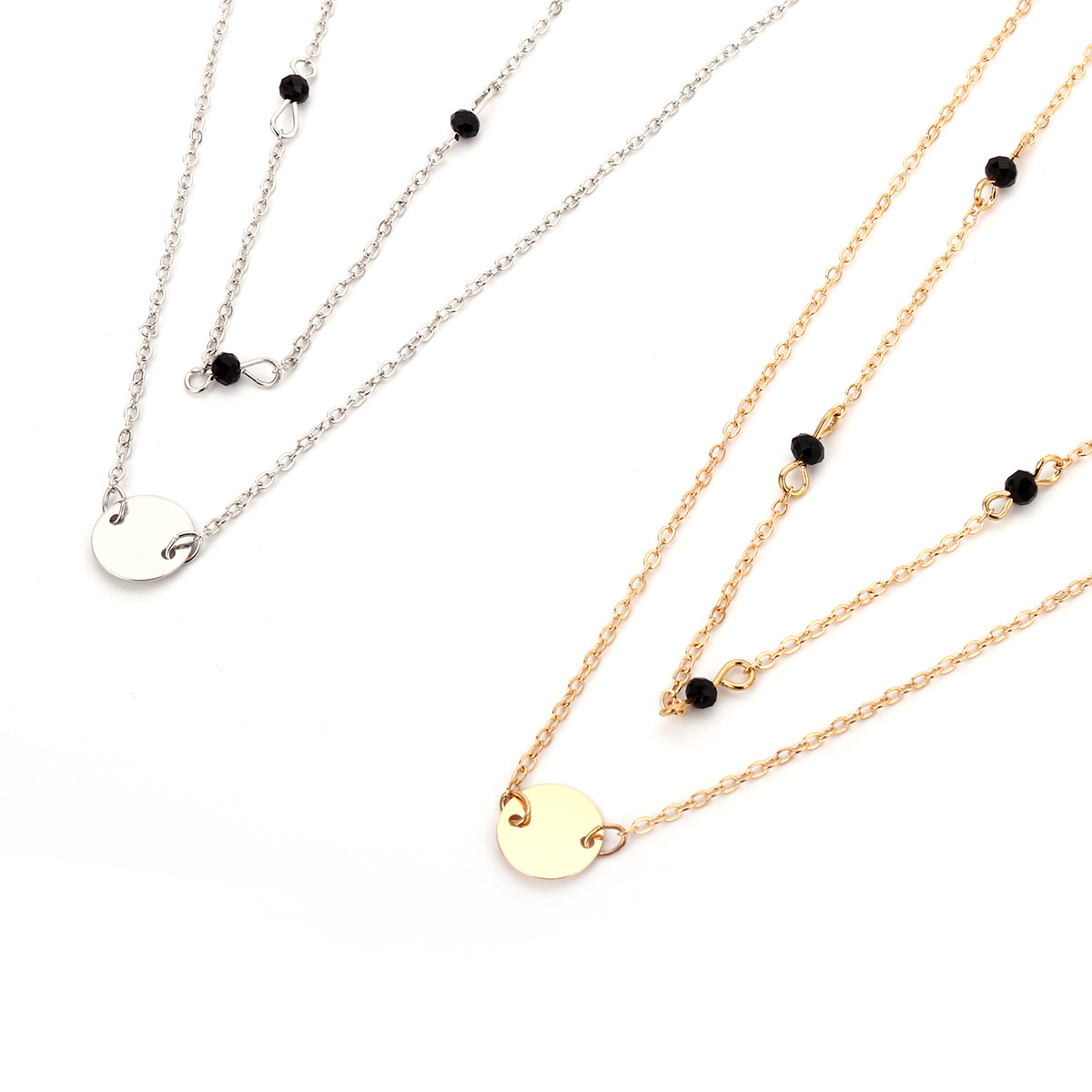 Fashion Alloy plating necklace Geometric (Gold 1634)NHXR1648-Gold 1634