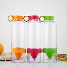 厂家直销韩版创意便携广告礼品水杯批发定制柠檬杯塑料