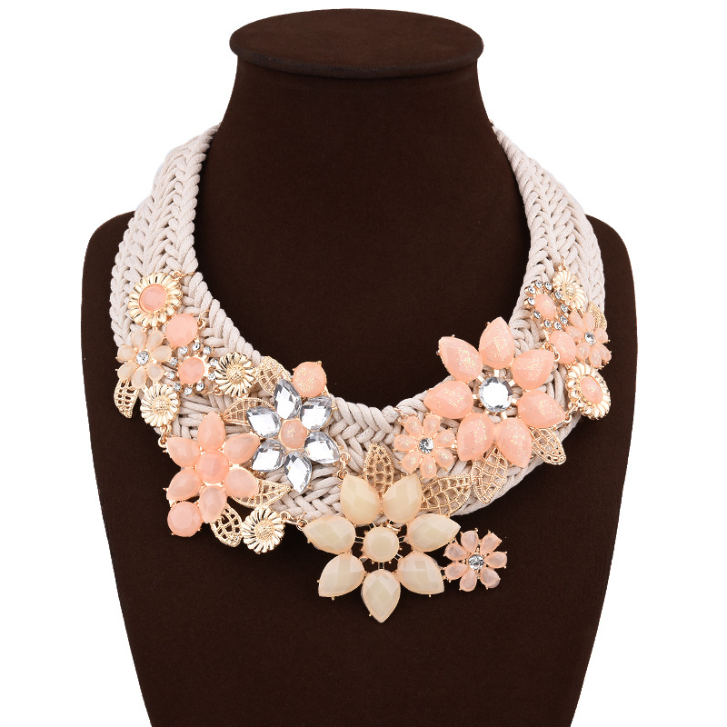 Occident and the United States alloy plating necklace (Pink)NHVA4080