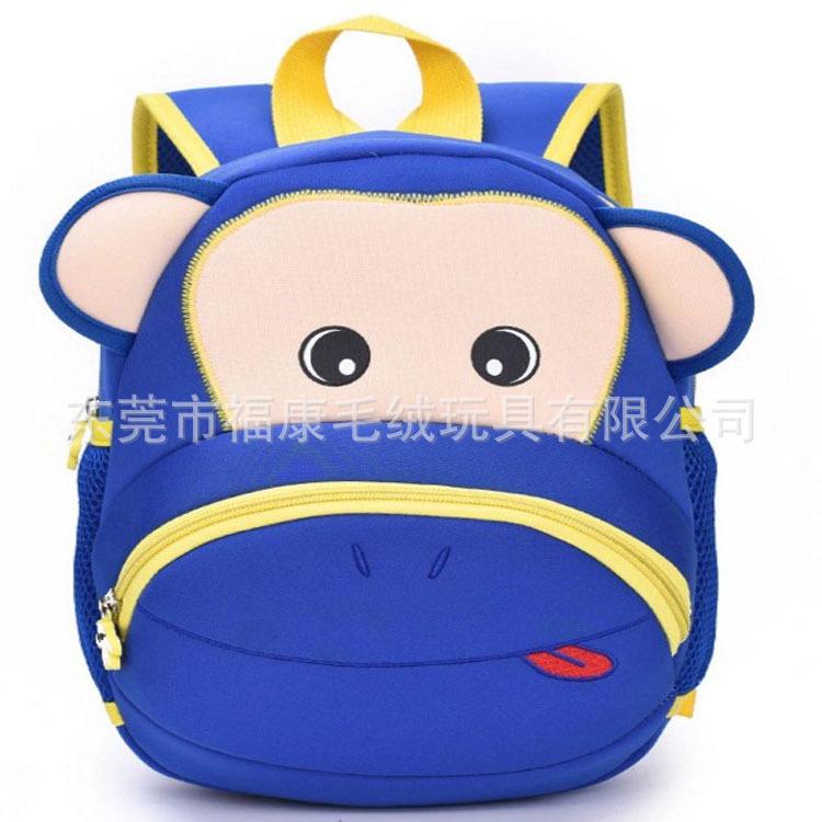 厂家定制韩版儿童毛绒玩具背包 动物表情包包 幼儿园小学生背包