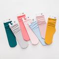 定制儿童袜子糖果色纯色女童丝袜天鹅绒舞蹈堆堆袜中筒袜花边百搭