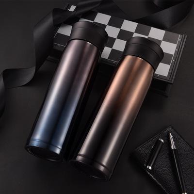 商务保温杯真空304不锈钢保温杯定制礼品杯子带防滑垫茶漏