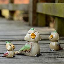 闺房新房装饰品陶瓷工艺品摆件 相亲相爱 陶瓷摆件卡通小鸟 A-256