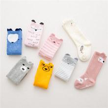 韩版卡通全棉儿童袜子立体耳朵中筒宝宝袜子防滑地板袜厂家批发