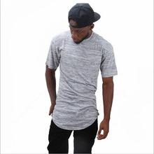 2018夏季新款男式T恤 欧美风弧形?#21487;?#22278;领修身短袖男士t恤