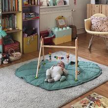 INS爆款家居室内北欧新款绿/灰树叶儿童婴儿玩具爬行垫游戏地毯子