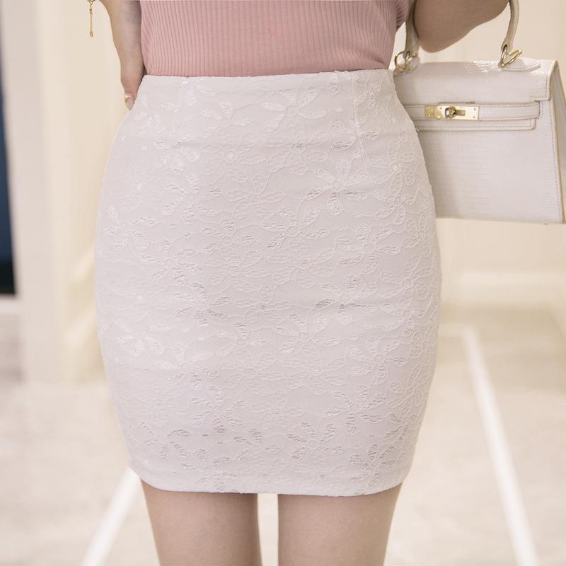 2020春夏季一步裙蕾丝半身裙包臀裙女高腰修身职业短裙弹力包裙