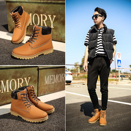 New spring men and women Martin boots boots boots with men's shoes tooling boots desert boots couple G604