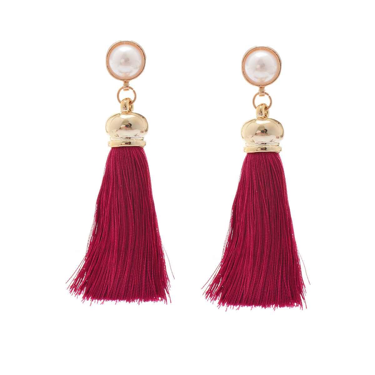 Occident and the United States alloy plating earring (B0683 rose red)NHXR1454-B0683 rose red
