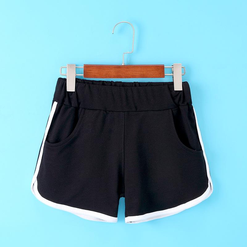 夏季宽松休闲女士短裤胖MM显瘦韩版运动沙滩热裤松紧系带3002女装
