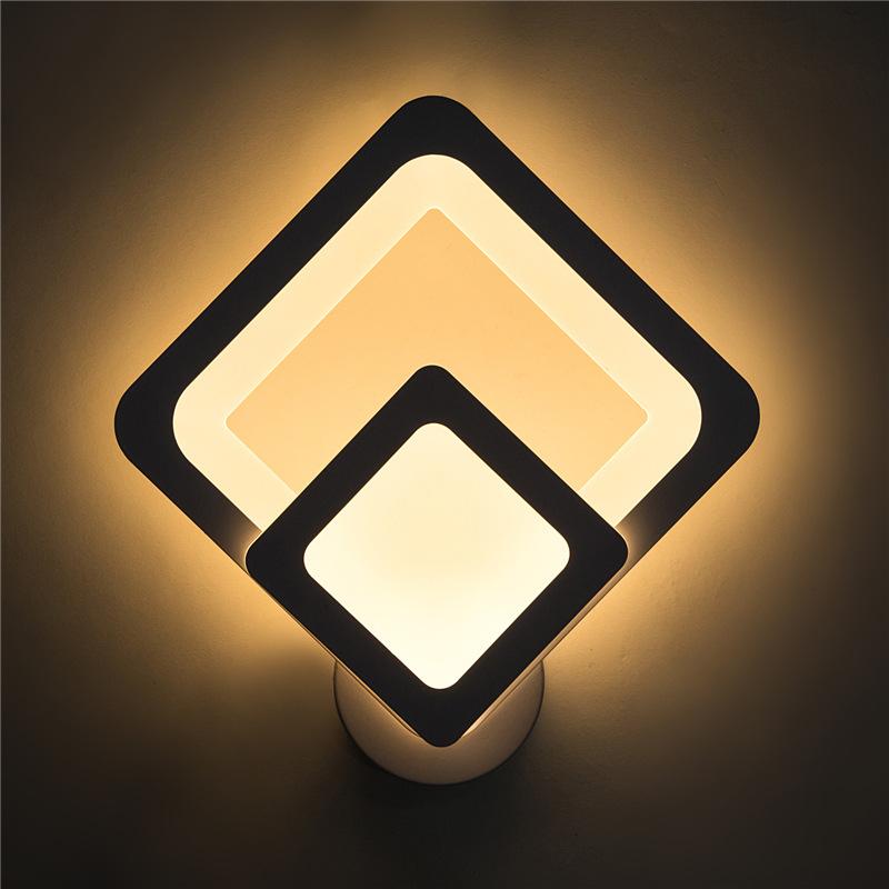 亚克力床头灯壁灯 卧室led亚克力客厅过道走廊 简约 时尚阳台壁灯