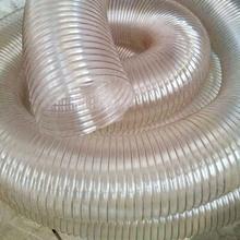 PU耐磨吸尘风管 弹性铜丝伸缩管粉尘车间通风管厂家直销