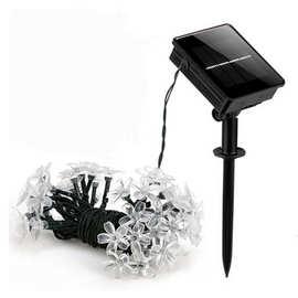 厂家直销 LED太阳能灯串 樱花灯串 7米50灯 圣诞节日彩灯