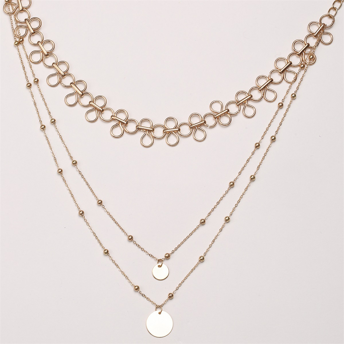 Occident and the United States alloy plating necklace (C2185 gold)NHXR1458-C2185 gold
