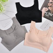 新款一片式日本内衣无钢圈运动聚拢瑜伽抹胸胸罩防震睡眠文胸