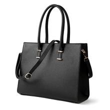 2019新款女包欧美外贸女士手提大包十字纹单肩斜挎时尚电脑公文包