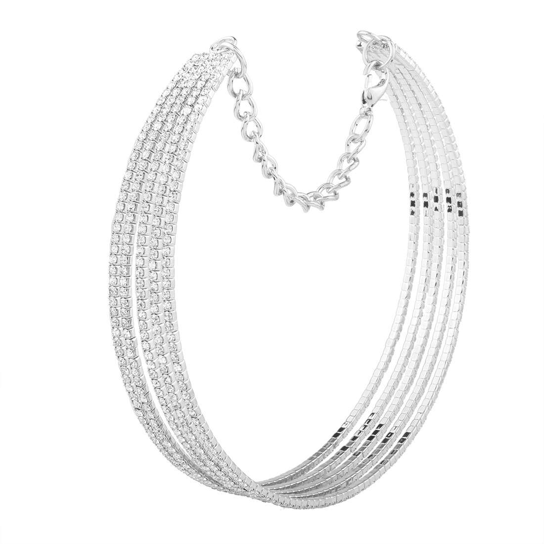 Occident and the United States alloy Diamond necklace (White k)NHNMD3845-White k