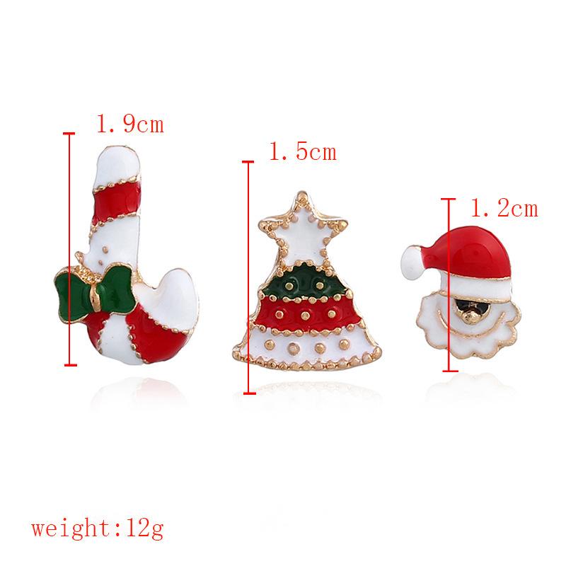 Fashion New Christmas Socks Elk Christmas Tree Snowman Drip Oil Studded Brooch NHNZ144830