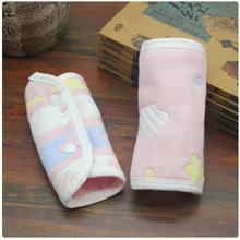 6层棉纱布蘑菇棉质背带口水巾婴幼儿背袋配套口水巾宝宝吸吮带