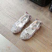 2019春季款童鞋闪亮水钻女童皮鞋韩版时尚表演儿童公主演出鞋批发