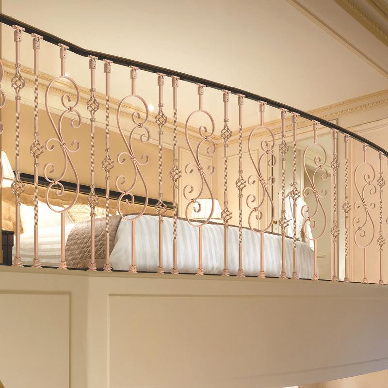 工厂直销铁艺楼梯立柱欧式风格 美观实用 可定制