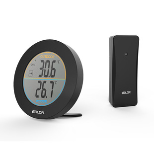 Baldr spot round indoor and outdoor thermometer wireless thermometer electronic thermometer digital thermometer