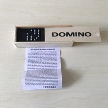 供应木盒多米诺牌九木质多米诺骨牌28片约115克domino