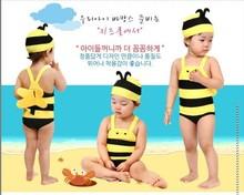 可爱小蜜蜂儿童泳衣男童女童连体游泳衣婴儿宝宝韩国卡通泳装包邮