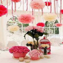 手工工藝紙花球 各種英寸紙花 生日 圣誕 新年 婚禮慶典