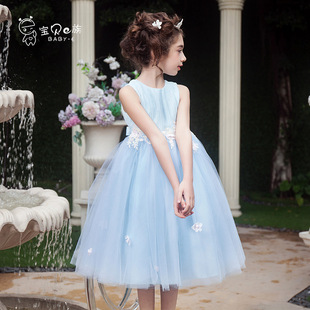 Summer children's clothing girls dress children princess dress flower girl dress wedding dress tutu skirt big virgin