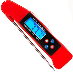 New Voice Food Thermometer Electronic Foldable Probe Thermometer Barbecue Thermometer with Backlight