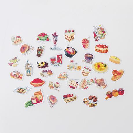 Biểu hiện dễ thương cuốn sổ tay nhật ký trang trí nhãn dán túi phim hoạt hình sáng tạo điện thoại di động tự làm album nhỏ sticker