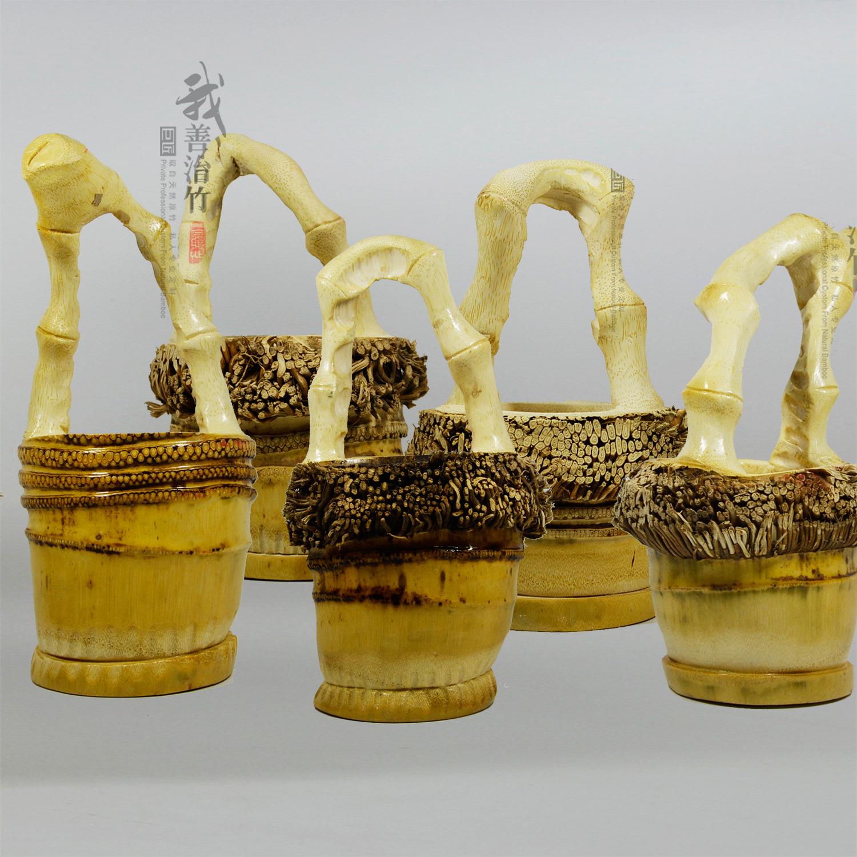 竹根雕花篮1-16