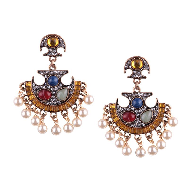 Alternative alloy Diamond earring (color)NHJQ9251-color