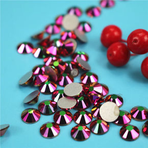 Research and development of silver rainbow rose gold DIY accessories mobile phone nail accessories