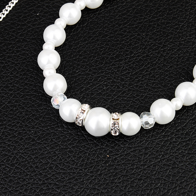 Fashion simple long diamond-studded pearl back body chain pendant tassel necklace jewelry  NHHS259897