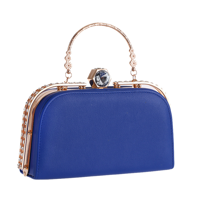 Wholesale spot Europe and America mobile handbags pu bag fashion diamond casual evening party bag women's simple package 113 NHYG178977