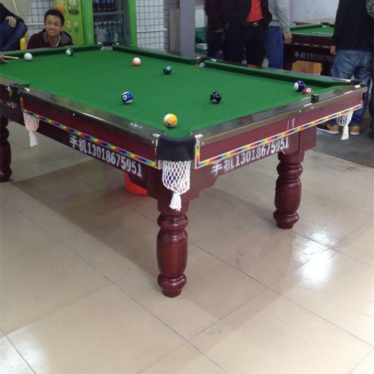桌球台价格 美式桌球台 中档普通台球杆强利体育器材有限公司