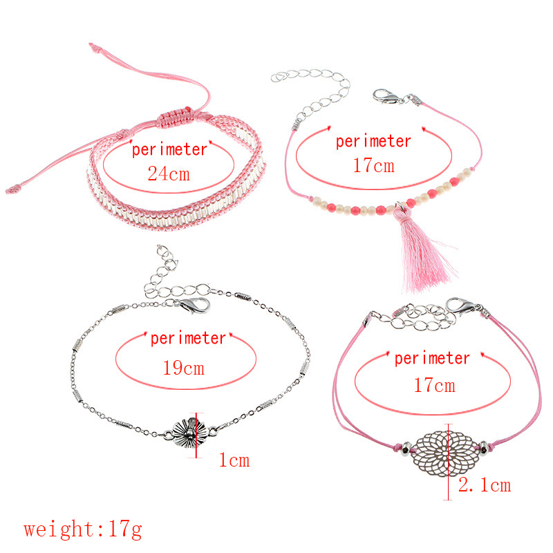 Occident and the United States alloy plating Jewelry Set (Pink)NHNNZ3031-Pink